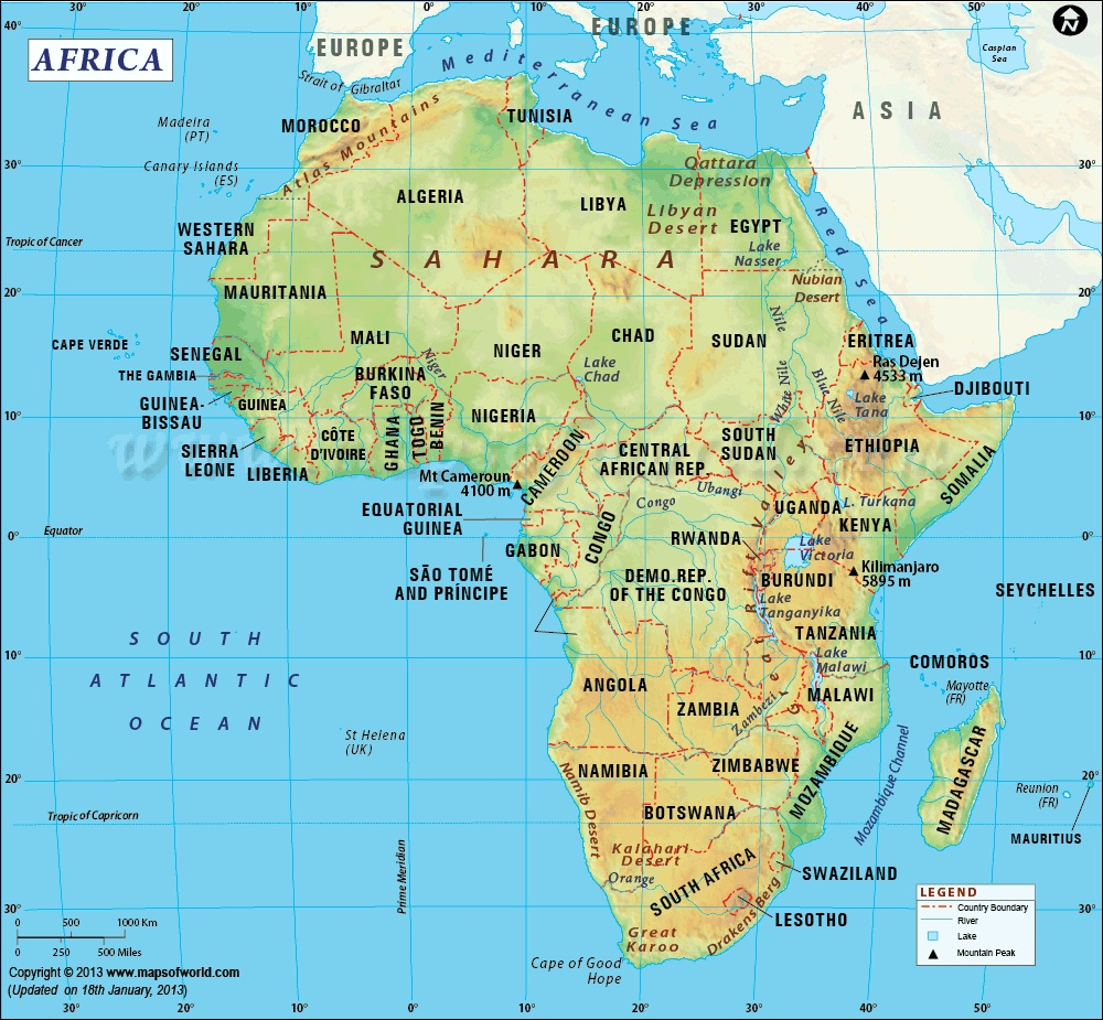 Africa Map replace