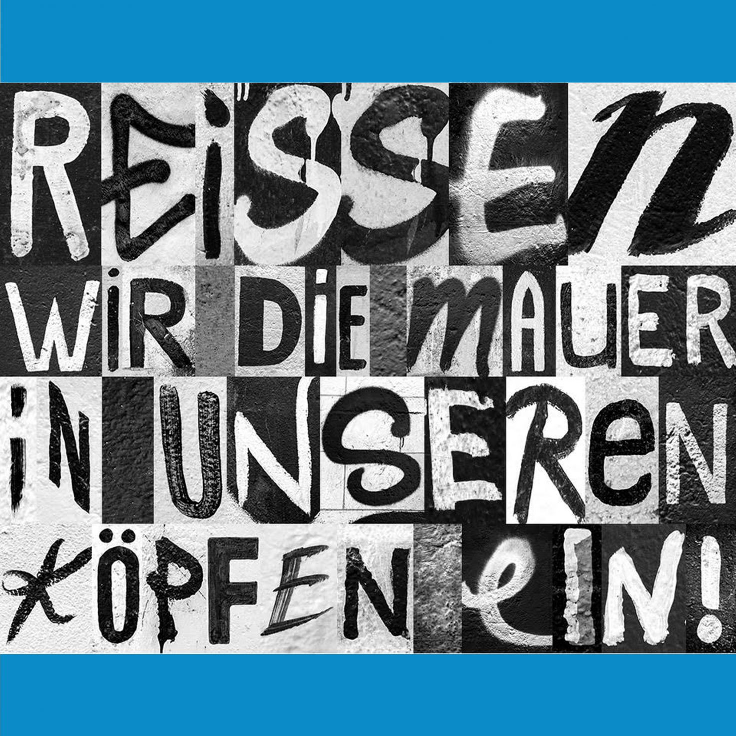 Berlin Wall typeface dezeen blue