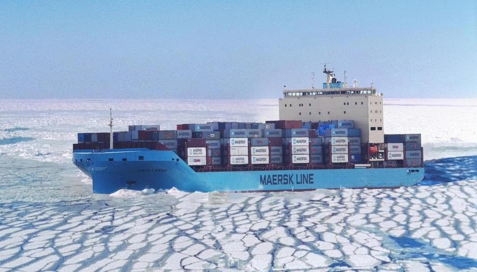 Venta Maersk in ice