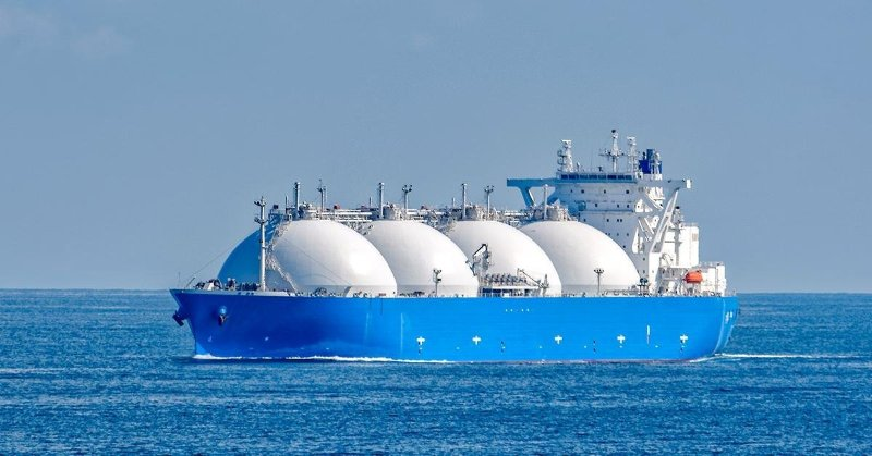 lng ship blue