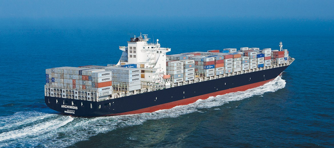 containership blue