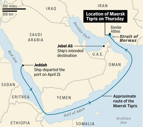 maersk tigris route